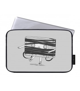 tape cassette art printed laptop sleeves