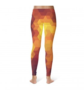 abstract printed legging