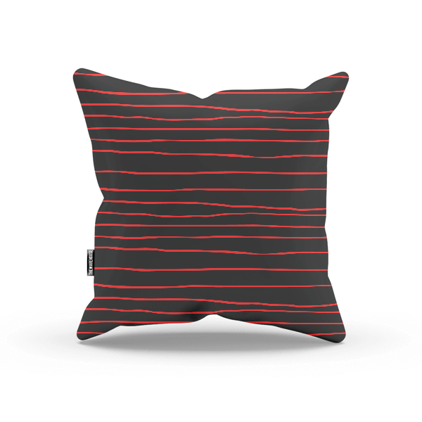 Red And Black Lines Pillow
