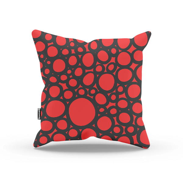 Seamless Red Pattern Pillow