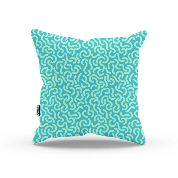 Rounded Lines Seamless Patterns Pillow