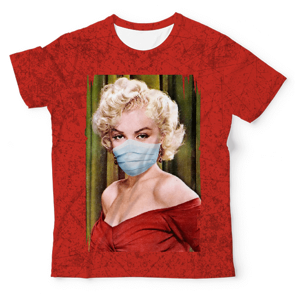Masked Marilyn Monroe Aestheticos Unisex All-Over Print T-Shirt