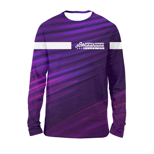 Purple Wavy Twh Classics Full Sleeves T-Shirts