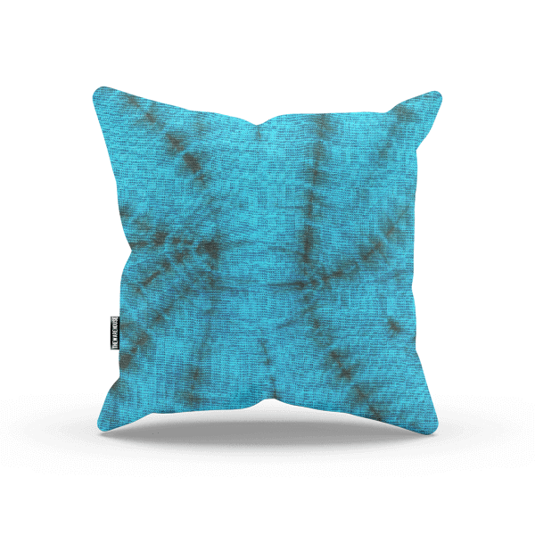 Blue And Black Tie Dye Pillow
