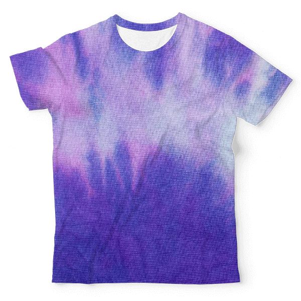 Colorful Tie Dye Unisex All-Over Print T-Shirt