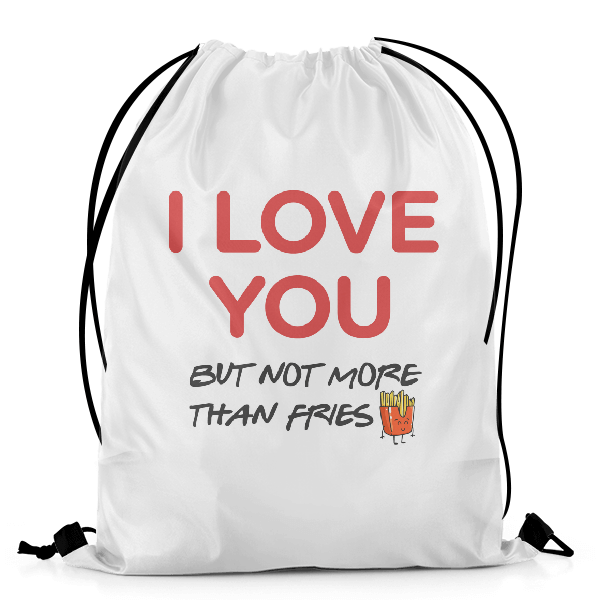Love For Fries DRAWSTRING BAG