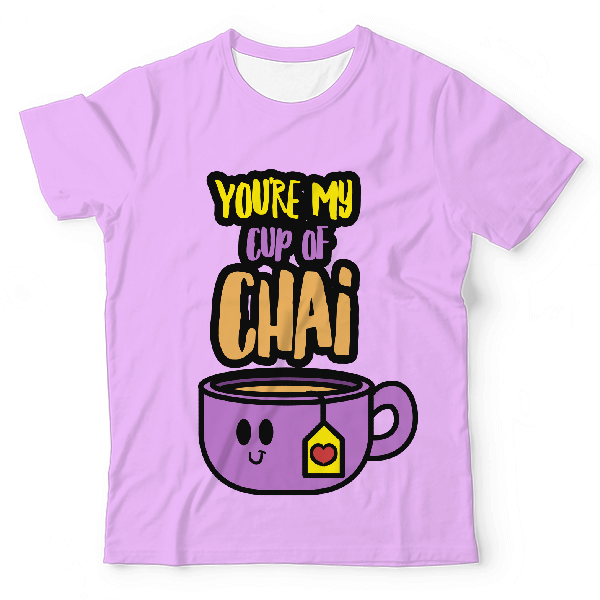 You're My Cup Of Chai UNISEX ALL-OVER PRINT T-SHIRT