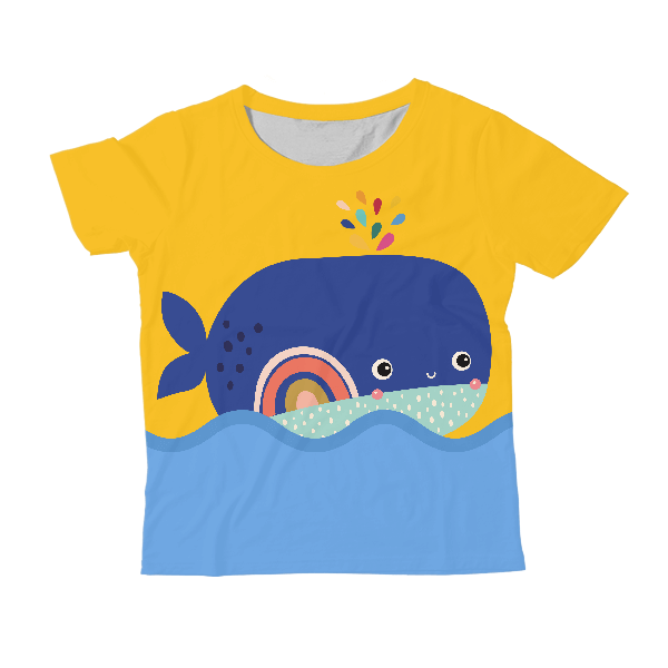 Whale KIDS ALL-OVER PRINT T-SHIRT