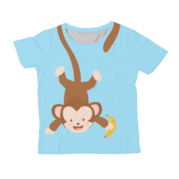 Monkey KIDS ALL-OVER PRINT T-SHIRT