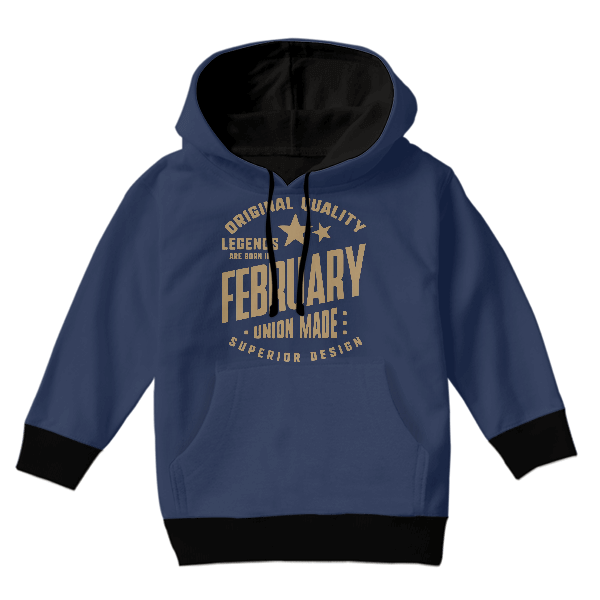 Legends Are Born In February KIDS HOODIE