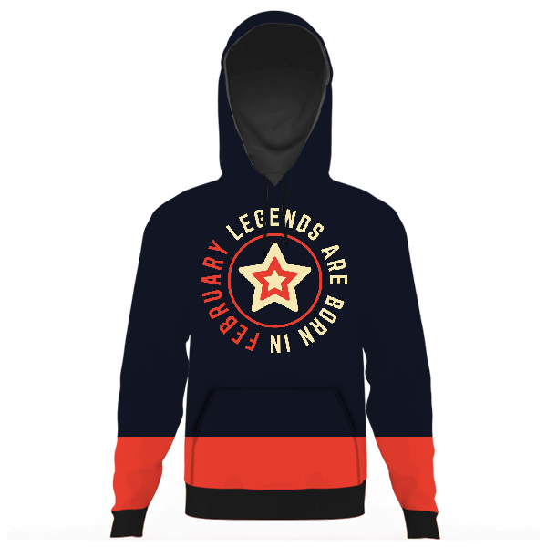 Legends Are Born In February UNISEX HOODIE