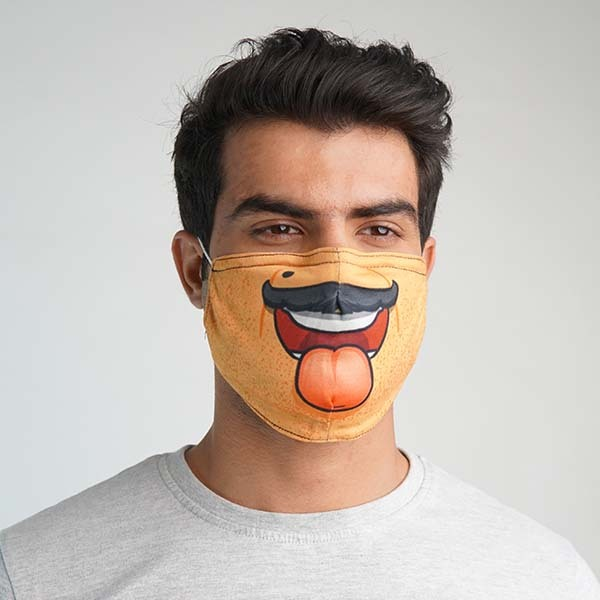 Desi Uncle Face Cloth Mask