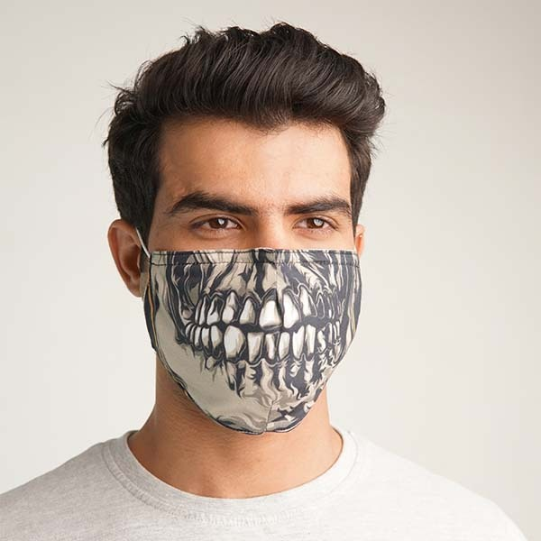 Face Expression Printed Cloth Mask
