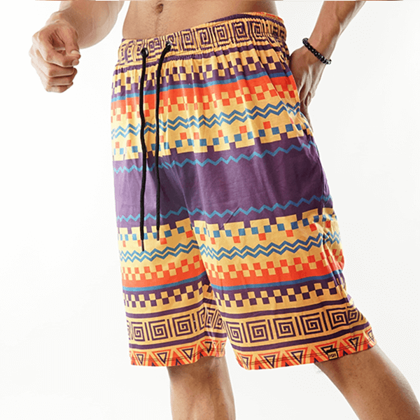 Colorful Tribal Printed Shorts