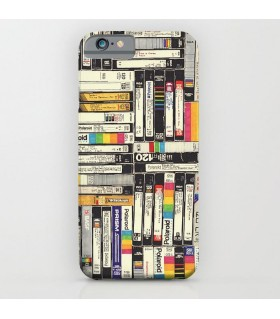 vcr cassette art printed mobile cover