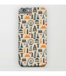 WONDERS OF THE WORLD printed mobile cover case