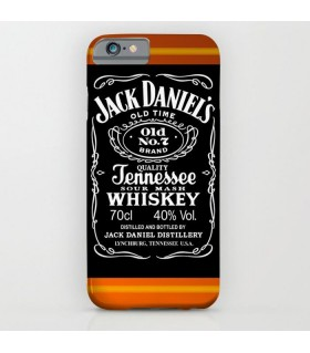 jack daniels logo art printed mobile cover