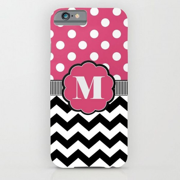 M ALPHABET PRINTED mobile cover