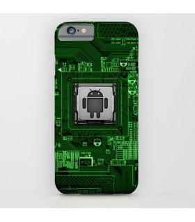 Android Circuit Printed Cover Case