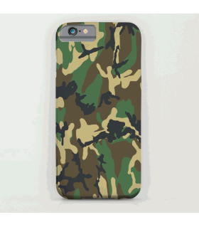 Camouflage Green art printed mobile cover case