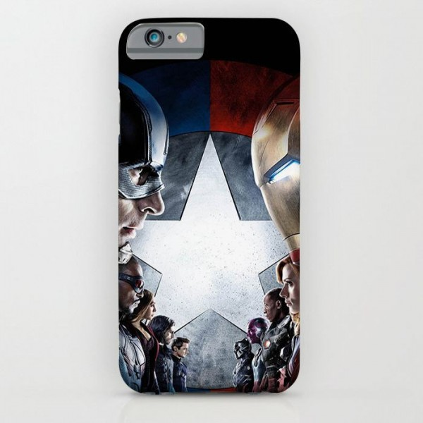 captain america civil war teams printed mobile cover