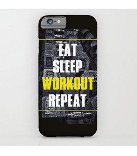 eat sleep workout repeat art printed mobile cover case