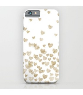 Gold Heart Printed Cover Case