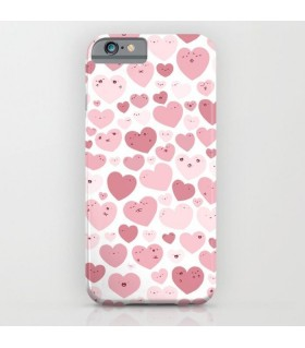 Lovely Hearts Doodle Printed Cover Case