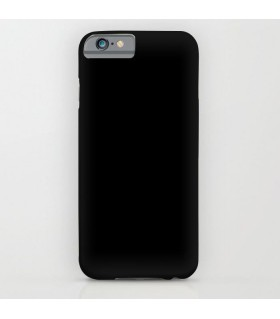 plain Black color printed mobile cover case