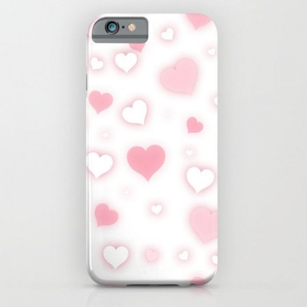 Pink Hearts Printed Cover Case