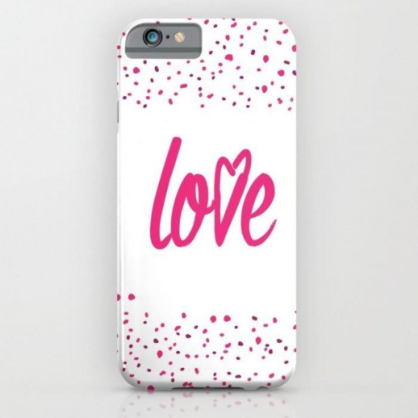 Valentine Pink Heart Printed Cover Case