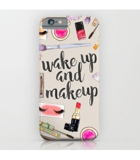 wake up and makeup art printed mobile cover case