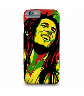 bob marley printed mobile cover