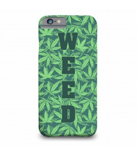 weed printed mobile cover