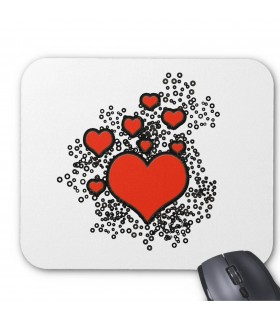 Heart Bubble Printed Mouse pads