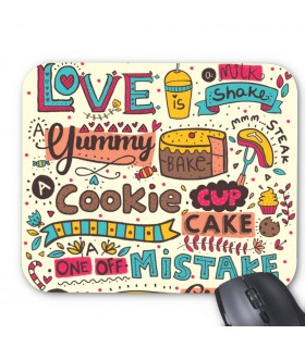 cookie printed mouse pad