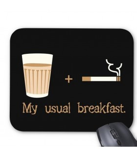 my usual breakfast printed mouse pad