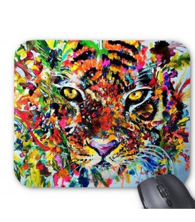 color tiger printed mouse pad