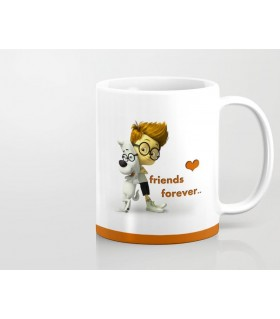 Mr. Peabody friendship printed mug