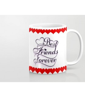 best friend forever printed mug