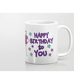 Happy Birthday Little Message printed mug