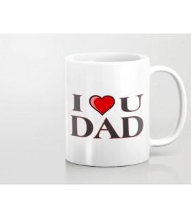 Love heart dad printed mug