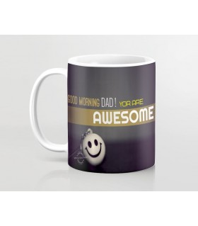 awesome dad printed mug