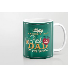 best dad happy father day printed mug