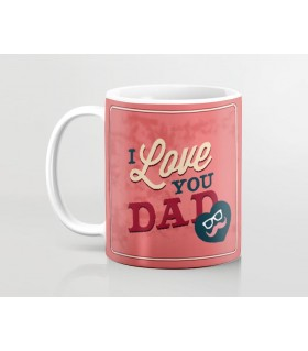 i love you dad mustache printed mug