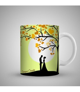 engagement in park art printed mug
