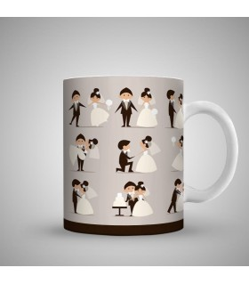 engagement steps art printed mug