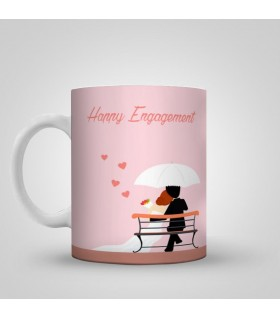 peaceful engagement life art printed mug