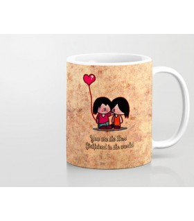 You are best Girlfriend in the world printed mug