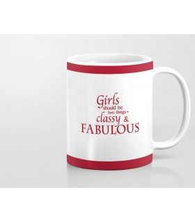 girl should be two things printed mug